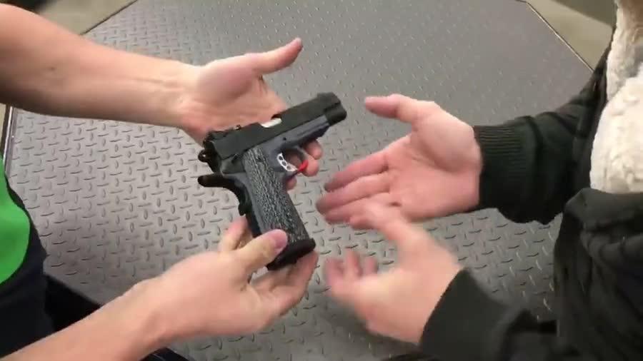 Snowflake buys a gun. .. ...shotgun- WHAA always gets me