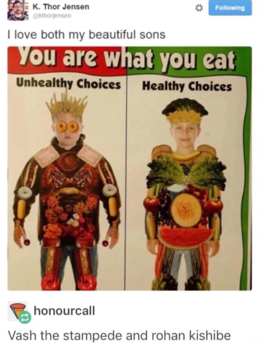 Feat. Vash Stampede. .. >Unhealthy choices yep thats me. jojo bizarre adv