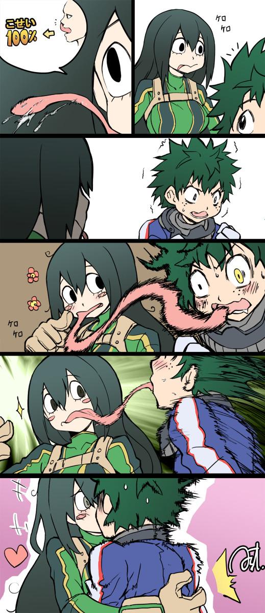 Frog Tongue. Source: www.pixiv.net/member_illust.php?mode=... .. Plz more my hero Academia boku no tsuyu asui Froppy