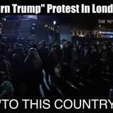 Britbongs protest Trump in London