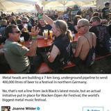 Germany's Wacken hard rock festival builds 7 km beer pipelene