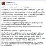 Lib Harasses Trump Supporter on Plane