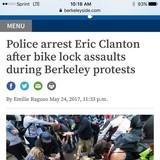 Antifa faggot arrested