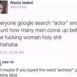 All actors are men