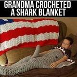 Shark blanket lmao