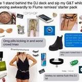 Drunk EDM girl starterpack