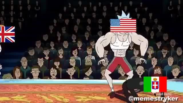 Rick and Morty WW2. .. WW1 via Rick and Morty.