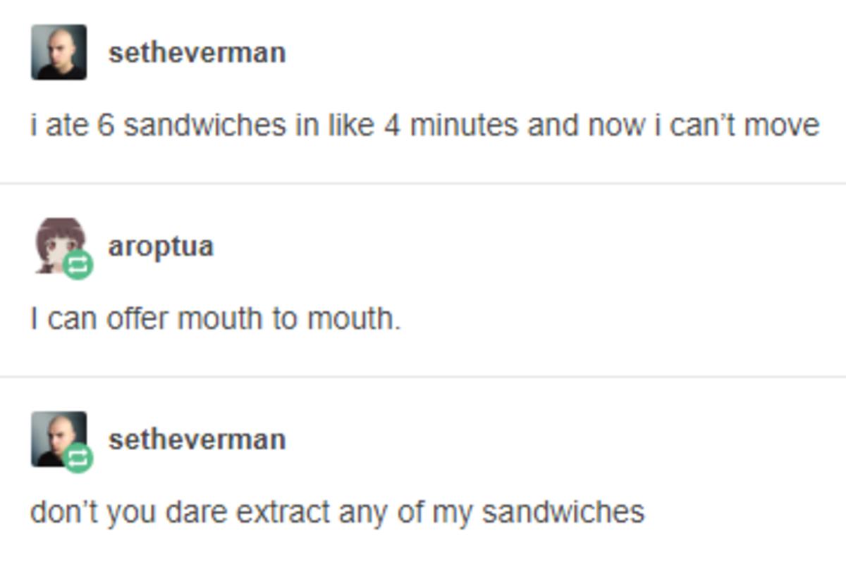 6 Sandwiches. .. ONE PIANO MAN STRIKES AGAIN 6 Sandwiches ONE PIANO MAN STRIKES AGAIN