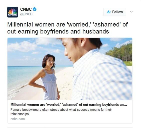 But muh wage gap?. www.cnbc.com/2017/04/18/millennial-wo... . CNBC tely CNBC At Follow V Millennial women are 'worr But muh wage gap? www cnbc com/2017/04/18/millennial-wo CNBC tely At Follow V Millennial women are 'worr