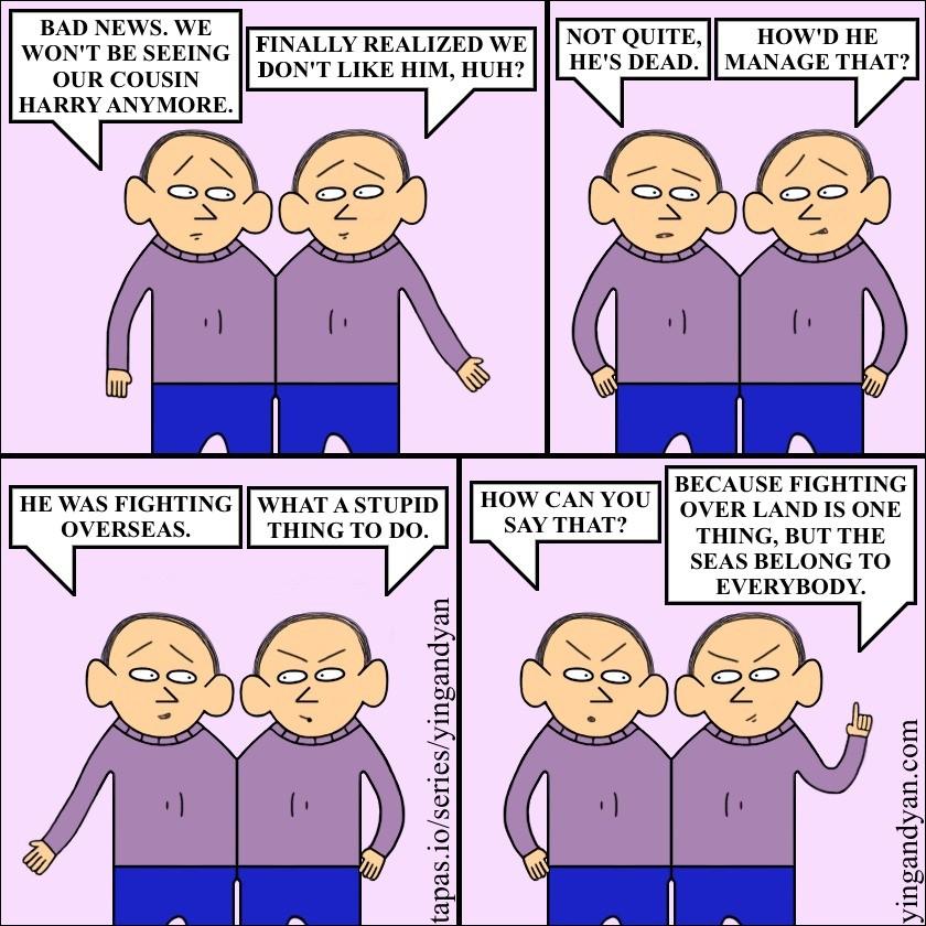 Fighting Over Seas. tapas.io/series/yingandyan twitter.com/yingandyancomic. BAD NEWS, WE ' NOT UITE ' HE WENT BE SEEING FINALLY REALIZED WE ifly/ ? MANAGE THAT? comics webcomics funny fighting overseas