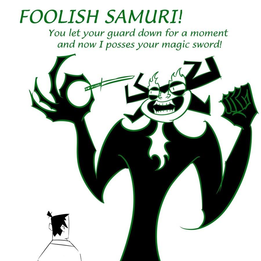 Foolish Samuri !. anthonypanics.tumblr.com/. FOOLISH 5/ ! You let your guard down for a moment and now I posses your magic sword! Foolish Samuri ! anthonypanics tumblr com/ FOOLISH 5/ You let your guard down for a moment and now I posses magic sword!