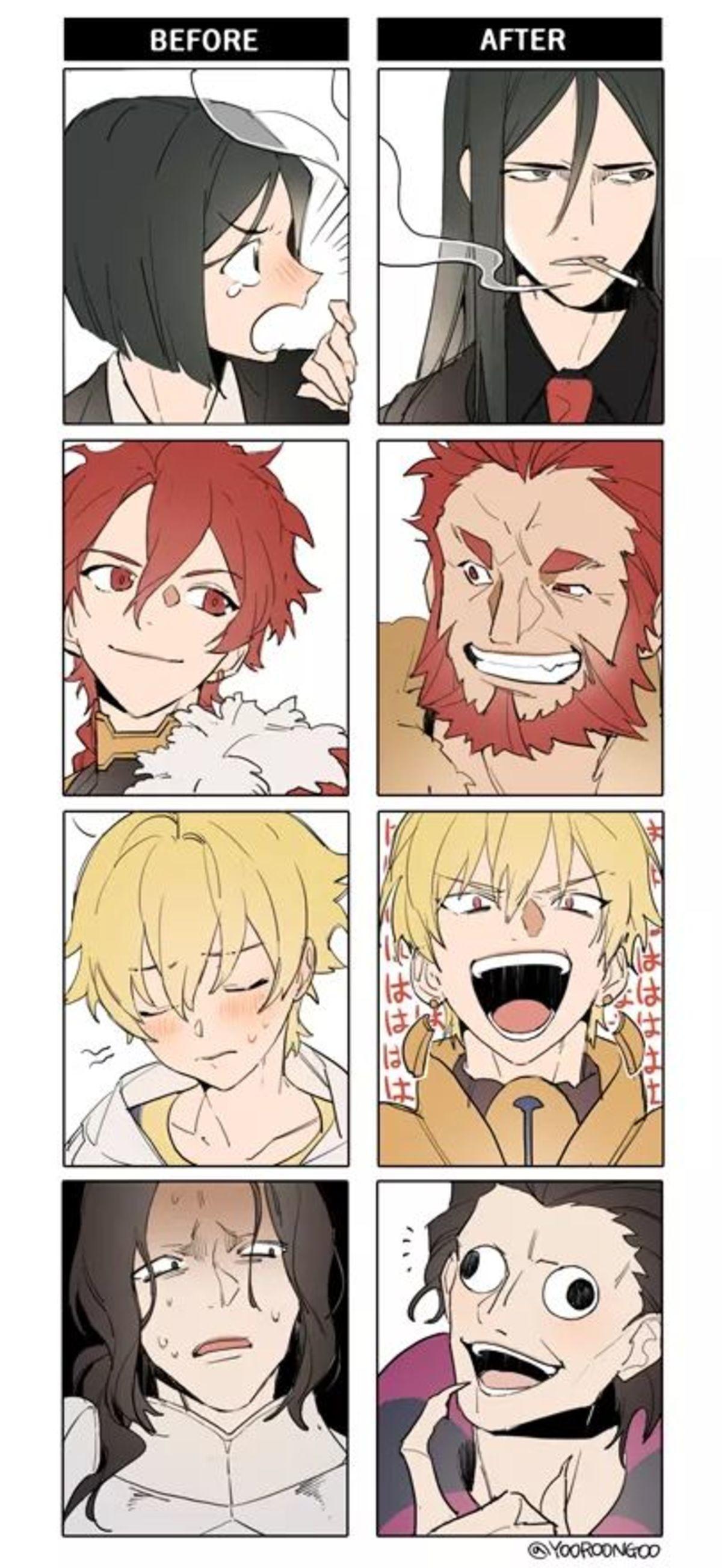 Future Selves. .. Being Saber Gilles is hard, being Caster Gilles is hard for children. Anime manga fatego zhuge Gilgamesh Gilles
