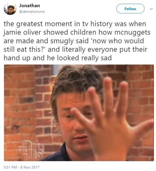 Jamie Oliver. .. what a twat Jamie Oliver what a twat