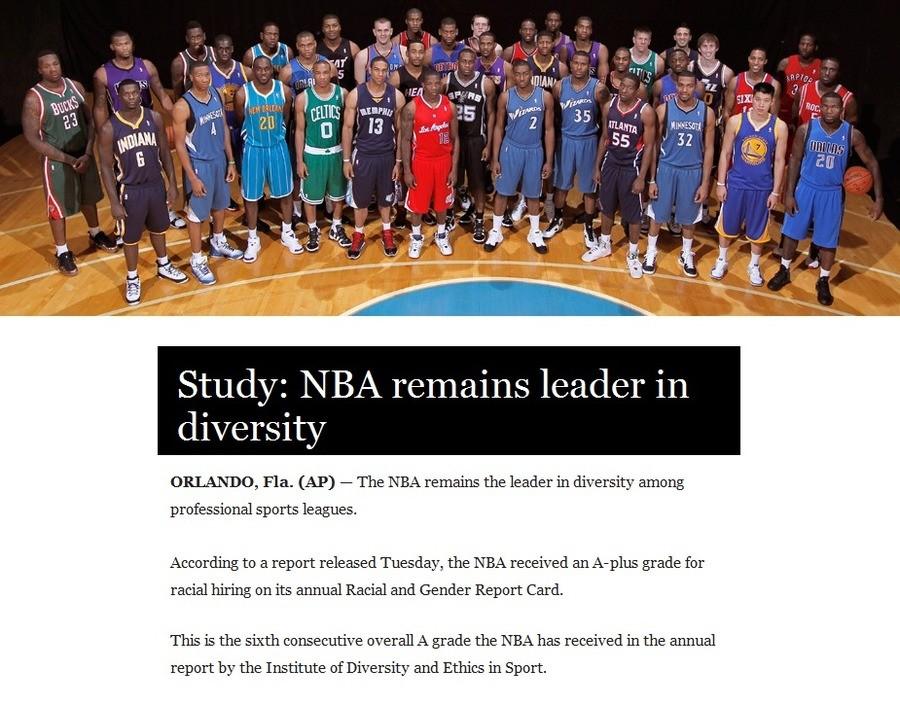 """NBA. .. """"Diversity"""" NBA """"Diversity"""""""