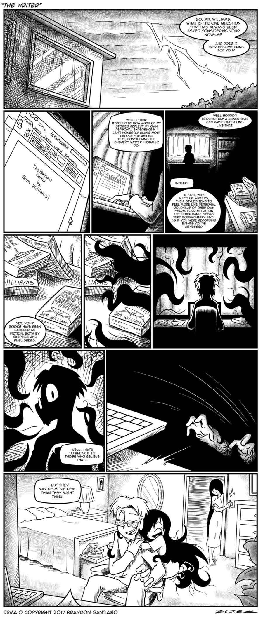 "New Erma comic.. Source: tapas.io/episode/865204 . WHAT Itim THE CINE THM"" HAW ' 5 BEEN ASKED FUN? Al IT warm tte HOW man  erma"