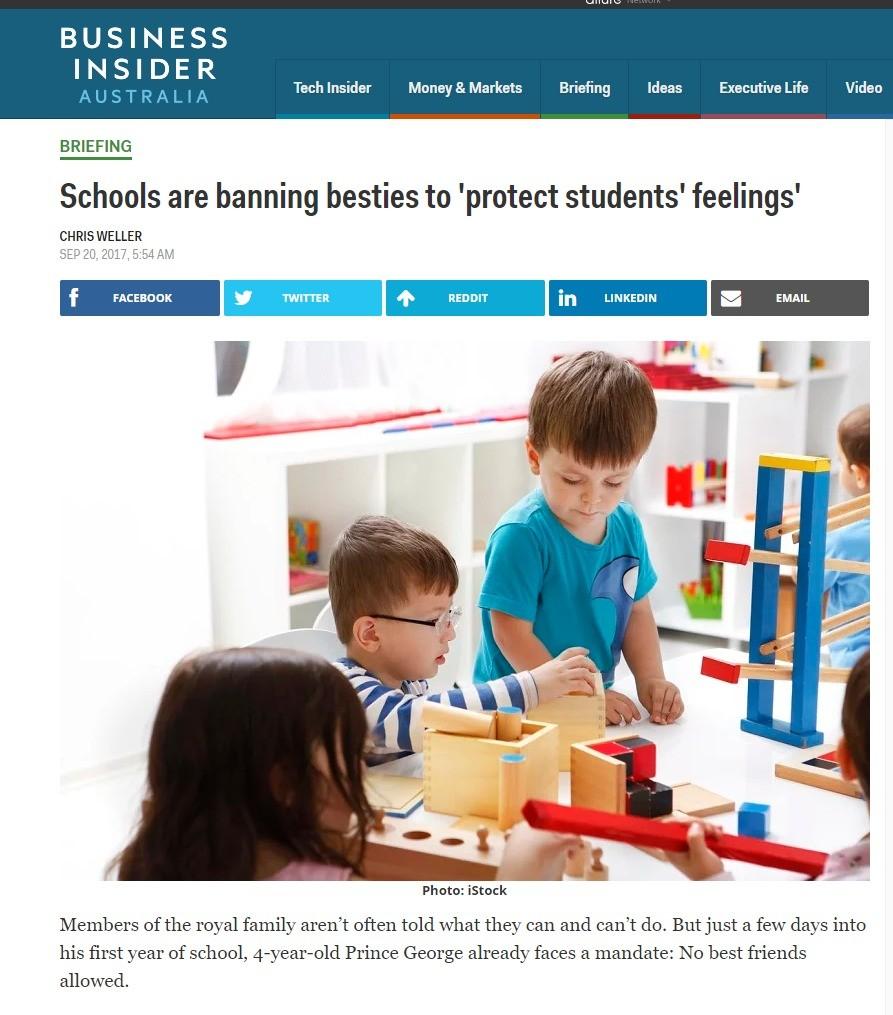 No bros in england.. www.businessinsider.com.au/schools-ar.... BUSINESS Test: Money W, Markets Ideas Executive Life Video BRIEFING Schools are banning beams to  England School Friends