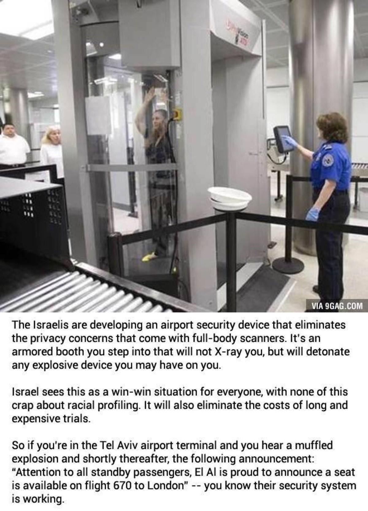 No more body scanners. . No more body scanners