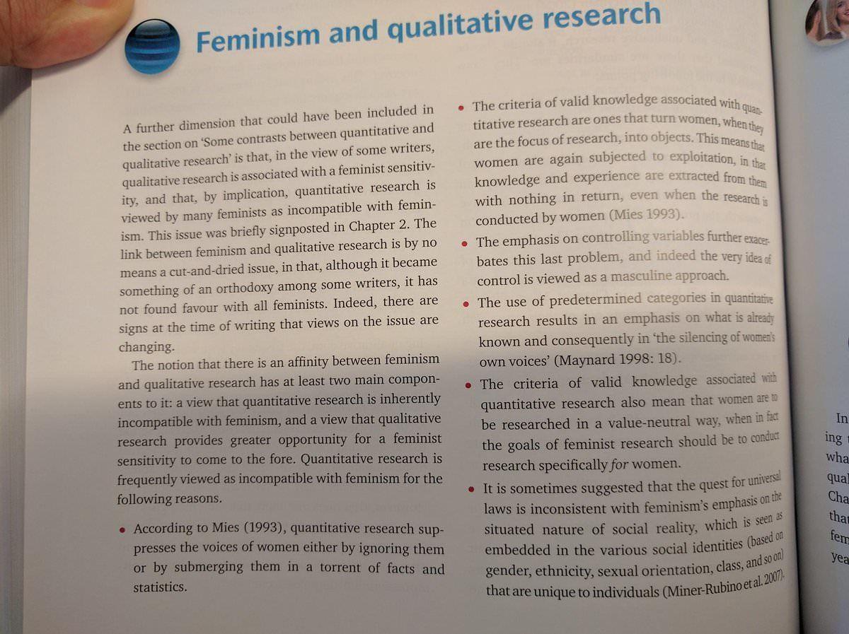 "Research is sexist. . an The criteria MEM: ! associated ceilim qua research are ones that turn seamen' ""hem: are th Research is sexist an The criteria MEM: ! associated ceilim qua research are ones that turn seamen' ""hem: th"