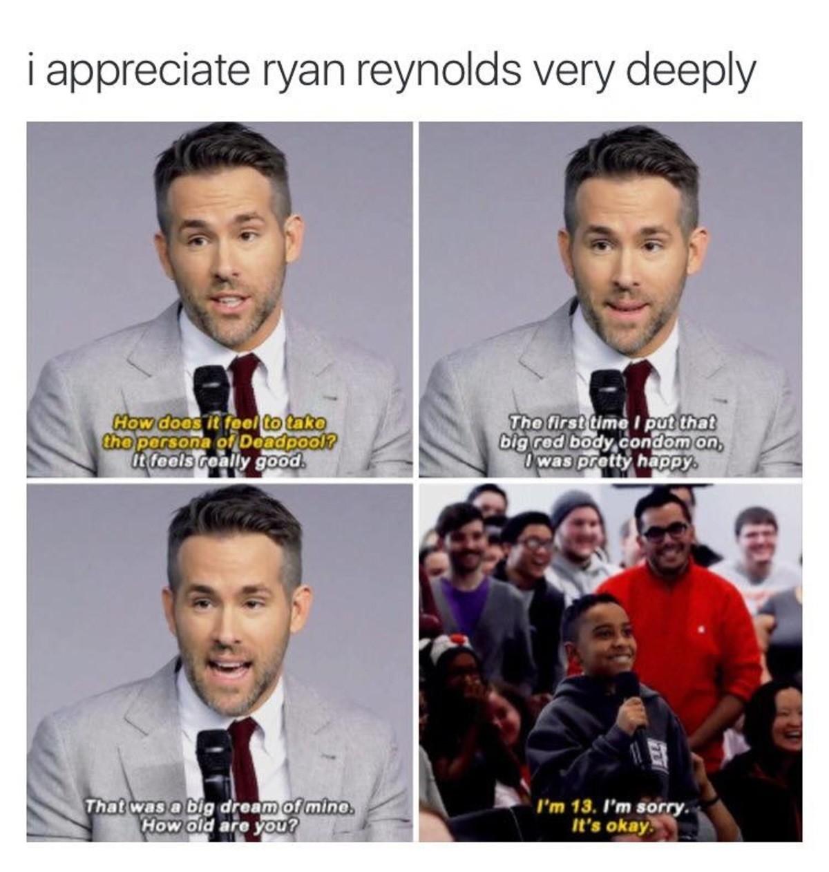 "Ryan Reynolds is a nice guy. . i appreciate / an very deeply rhe, twyst ttritt-.'/ bit; red oii? iiy, cnn' itifoi. iah:""' I' laas preatty happy}?. Let's all praise the murderer of an innocent stuntgirl Ryan Reynolds is a nice guy i appreciate / an very deeply rhe twyst ttritt- '/ bit; red oii? iiy cnn' itifoi iah:""' I' laas preatty happy}? Let's all praise the murderer of innocent stuntgirl"