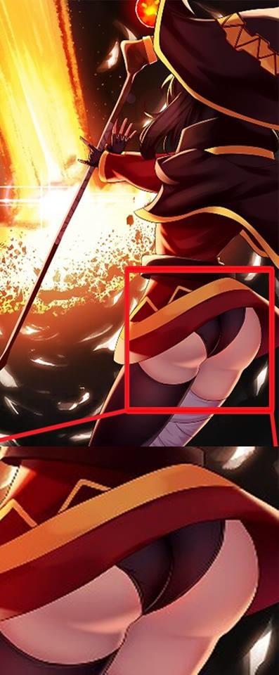 Very Important. imgur.com/2zRRbxv original  . Anime manga konosuba Lewd ASS thicc thighs Megumin petite