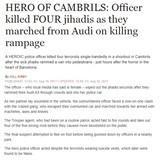 Spanish officer killed 4 terrorists