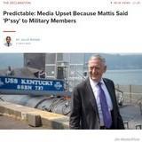 Mattis Update: He Said Pussy