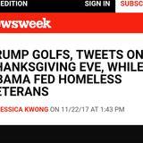 Trump is golfing, again.