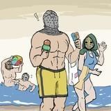 Knights at a Beach