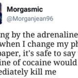 Cocaine's a helluva drug