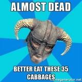 Skyrim food logic